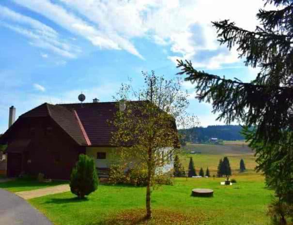 Pension Helena Honesová ubytování Horská Kvilda příjezdová cesta v létě