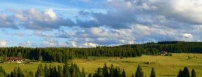 Pension Helena Honesová, ubytování Horská Kvilda výhled do údolí Hamerského potoka v létě